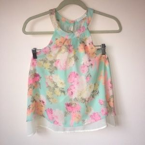 LUSH open back floral top